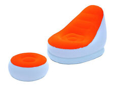 Bestway Luftsessel Comfort Cruiser mit Hocker weiß/orange, Camping, Pool