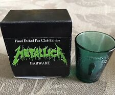 Metallica Death Magnetic Green Limited Edition Shot Glass. Only 200 Made. *RARE*