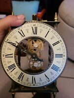 RARE VINTAGE Franz Hermle Mechanical Skeleton Clock - 75th ANNIVERSARY Edition