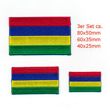 3 Maurice Rodrigues Port Louis Drapeaux Drapeaux PATCH écusson Aufbügler Set 1019