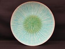 Shangri La Court Turquoise by Gibson Dinner Plate Embossed Sunburst L209