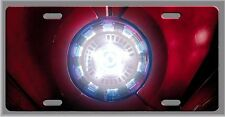 L@@K! Ironman Arc Reactor Licence plate Vanity tag room Sign Aluminum