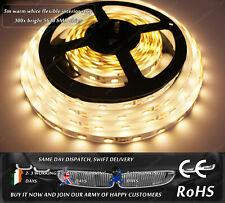 5m 300x 5630 Warm White 3500k LED SMD Home Indoor Interior Strips Lights DC12V