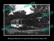 6x4 HISTORIC PHOTO OF MINNEAPOLIS MINNESOTA LAKE HARRIET STREET CAR STATION 1950