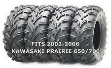 4 WANDA ATV/UTV Tires 25X8-12 25X10-12 for 2002-2006 KAWASAKI PRAIRIE 650/700
