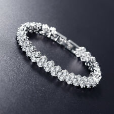 5.00 Carat Round Diamond Tennis Bracelet Crafted in 18k White Gold .Finish