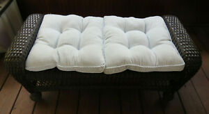 Home Decor Blue White striped Seat Cushions chair pad bench pillows Set of 2