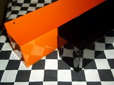 "16"" Gloss Black & Orange Workbench Wall Mount Can Holder Shop Garage Organizer"
