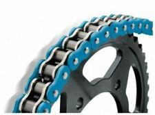 Chaînes et pignons bleus pour motocyclette