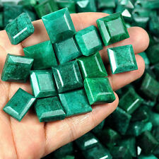 12 Pcs Natural Emerald Ring Size Finest Emerald Cut Gemstones Lot ~170 Cts+