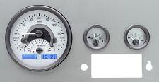 1955-86 JEEP CJ Dakota Digital Silver Alloy & Blue VHX Gauge Dash Kit