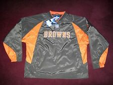 BRAND NEW WITH TAGS CLEVELAND BROWNS PULLOVER SIDELINE JACKET LARGE REEBOK