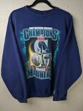 vtg STARTER 1997 Seattle Mariners MLB West Division Champs Sweatshirt Mens XL