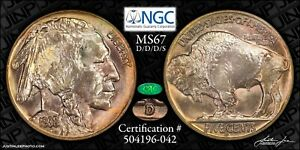 1938-D D over S Old NGC Fatty Gen 4 MS-67 CAC