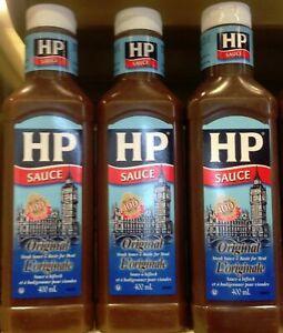 3 x Bottle HP Original Steak Sauce 400ml Each - From Canada FRESH! Fast Ship