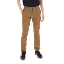 CARHARTT pantaloni SID PANT COTTON LAMAR HAMILTON BROWN RINSED marrone