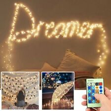 Led String Lights Waterproof Fairy w/Remote Christmas Wedding Party Garden Patio