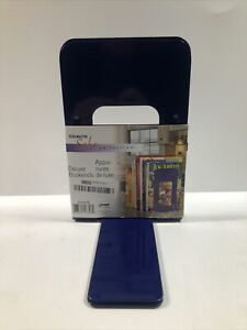STEELMASTER Deluxe Steel 9 Inch Bookends, 1 Pair, Cobalt Blue (241009108) Office