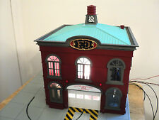 MTH Operating Fire House W/ Sound Effects, Fire Truck & Fireman Orginal Boxes