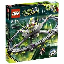 Lego Alien Mothership 7065 space invasion with UFO sound brick and reporter Rare