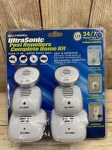 Bell & Howell Ultrasonic Pest Repeller Complete Home Kit - 6 Pack NEW