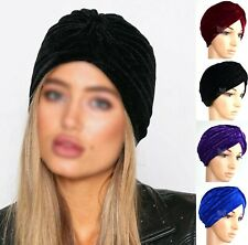 New Velvet Turban Stretchy Cap Hijab Headband Bandana Wrap Plain Hair Loss Chemo