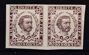 Montenegro - 1894 - Michel 17 U pair - MNG - 250 Euro