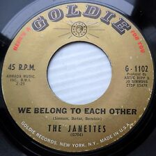 JANETTES doowop orig. GOLDIE 45 He's Crying Inside We Belong To Each Other F2515