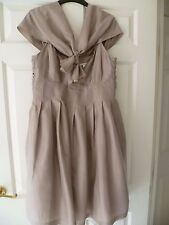 BEAUTIFUL Ladies Silk Dress Marks & Spencer  S 14 SPECIAL OCCASION WEDDING EXCEL