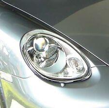 Porsche Boxster 2005-2006 Chrome Aftermarket Head Lights Trim Cover ABS Plastic