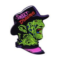Freddy Krueger Horror Movie Halloween Enamel Clutch Pin Retro 80s Style NEW