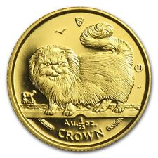 Isle of Man 1/25 oz Gold Cat BU/Proof (Random) - SKU #12095