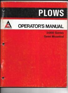 Allis-Chalmers 2000 Series Semi Mounted Operator's Manual