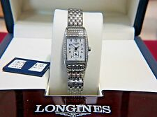 New in Box L2.194.0.83.6 Longines Bellearti Ladies MOP Tonneau brillant