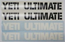 Yeti Cycles ~ Yeti Ultimate ~ YETI  ULTIMATE Decals ~ Black w/ White Shadow