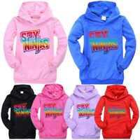 SPY NINJA CWC Inspired Kids Hoodie Hooded Boys Girls Youtuber Merch Sweatshirt