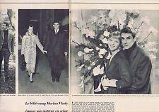 Coupure de presse Clipping 1956 Marina Vlady & Robert Hossein (2 pages)