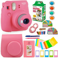 FujiFilm Instax Mini 9 Instant Camera+ 20 Fuji Film  + Large, Colorful Kit!