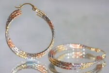 Hoop Rose Gold Filled Precious Metal Earrings without Stones