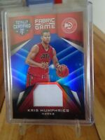 2016-17 PANINI TOTALLY CERTIFIED KRIS HUMPHRIES JERSEY CARD 78 /99 HAWKS