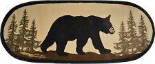 2X5 Area Rug Runner Throw Hearth Oval Cabin Lodge Bear Paw Rustic Black Beige