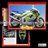 #101.02 Fiche Moto KAWASAKI ZXR 750 J1 1991 Sport Bike Motorcycle Card 川崎