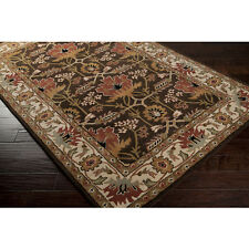 8x11 Arts Crafts Mission Style William Morris Chocolate Brown Wool Area Rug