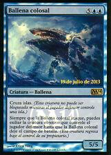 MTG MAGIC 1x BALLENA COLOSAL / COLOSAL WHALE  PROMO FOIL  ESPAÑOL RARA M14