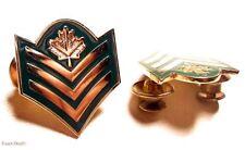 Sergeant Green and gold Uniform metal rank collar badge