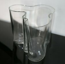 Vintage Clear Glass Blown Aalto Vase by Alvar Aalto for Iittala, Finland 1990