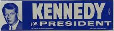 Kennedy For President 1968 Campaign Bumper Sticker Unused Students For Kennedy