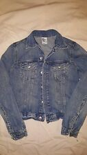 H & M Denim Jean Jacket Dark wash Women's  sz 4