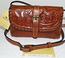 NWT $99 PATRICIA NASH Torri Tooled Italian Leather Convertible Crossbody Bag