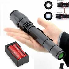 Cree 2500LM T6 XM-L LED Flashlight Torch Light +2X 18650 Battery+ Dual Charger